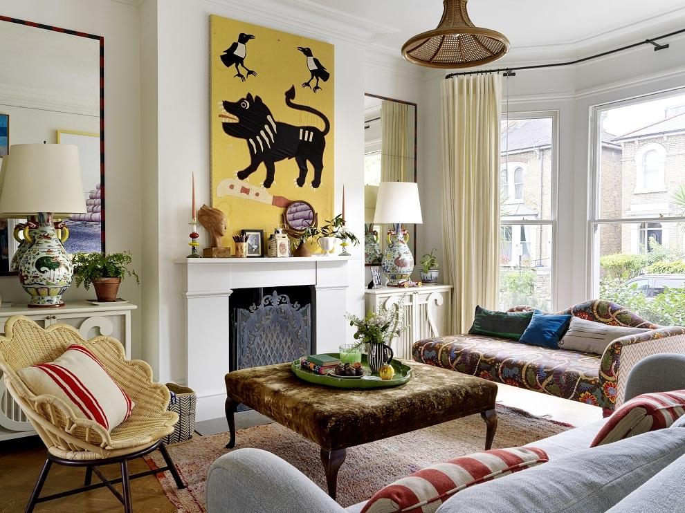 El salón de la casa de Beata Heuman
