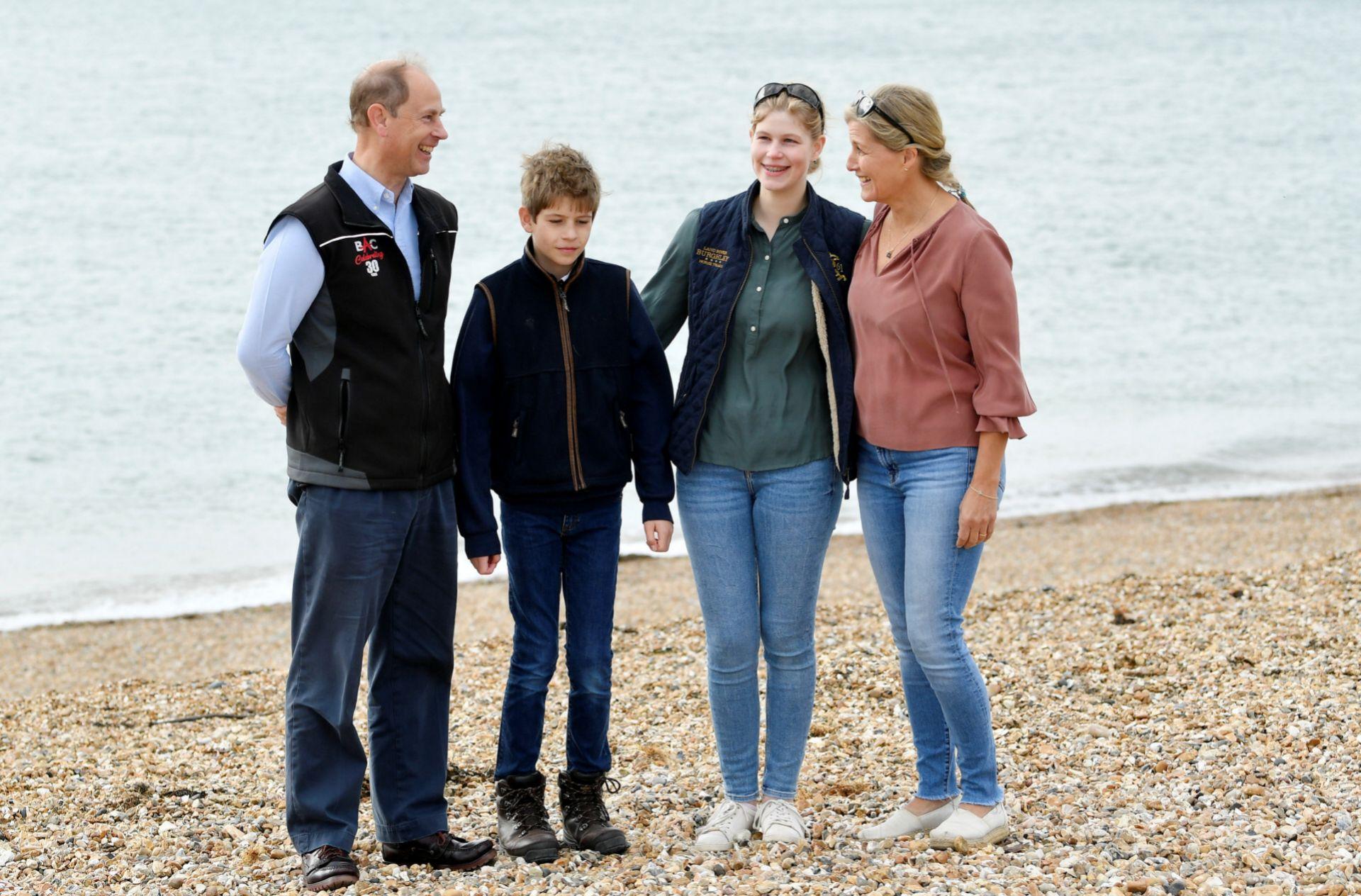 Los Wessex en una reciente foto con sus hijos