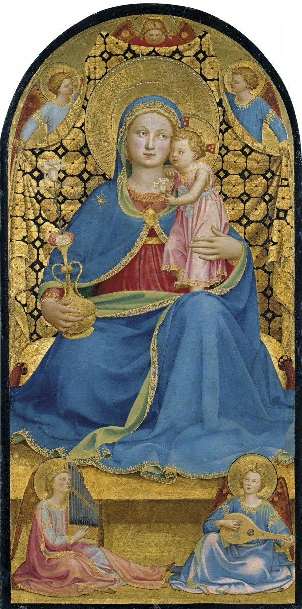 La Virgen de la Humildad, de Fra Angelico, obra de 1433.