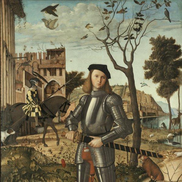 La obra Joven caballero en un paisaje, de Vittore Carpaccio, se restaurará en directo en el Museo Thyssen como parte de la celebración del centenario del nacimiento del barón Thyssen.