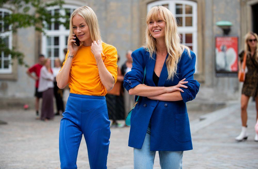 Thora Valdimars y Jeanette Madsen, referentes de moda de Dinamarca en todo el mundo y también de belleza.