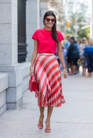 La falda plisada será una de las estrellas de la temporada.
