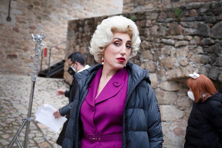 """Rossy de Palma, en el rodaje de """"Érase una vez... pero ya no""""."""