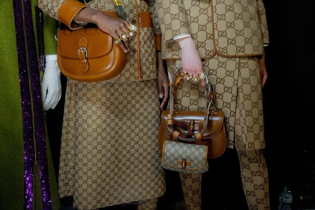 Detalle del desfile de Gucci.