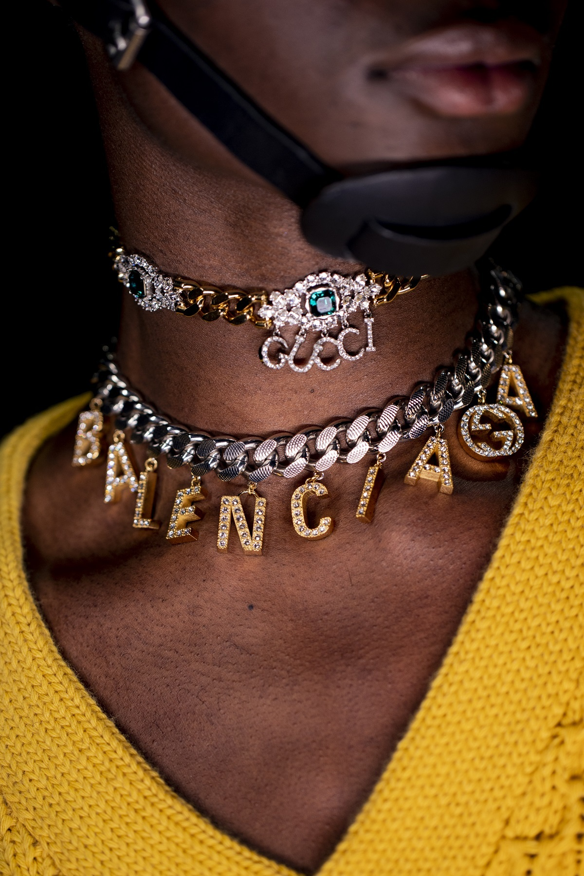 Las joyas del desfile de Gucci.