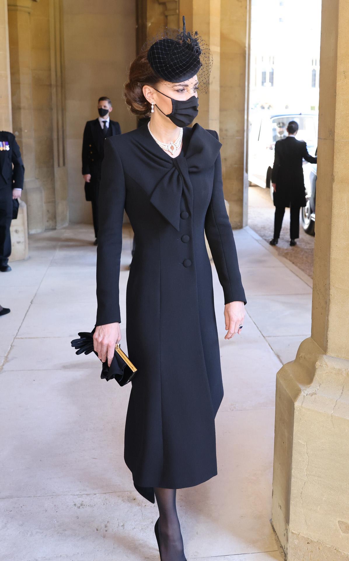 Kate Middleton asiste al  funeral de Felipe de Edimburgo