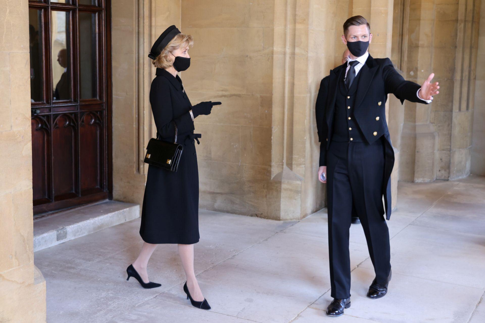 Lady Penny en el funeral de Felipe de Edimburgo.