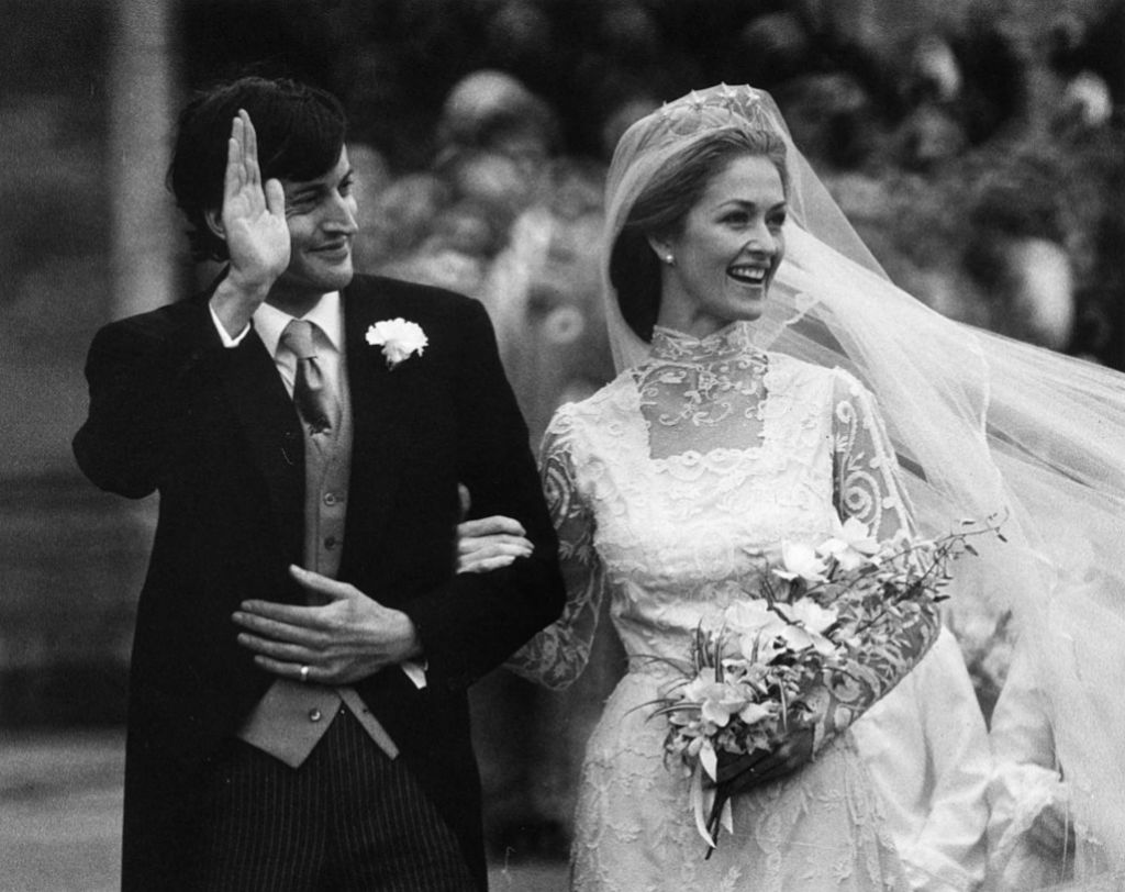 Penny y Norton el día de su boda en 1979.
