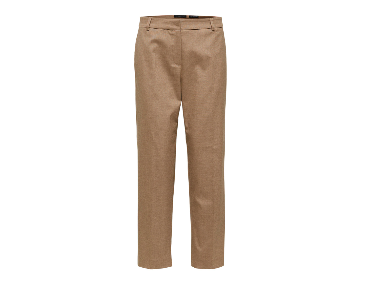 Pantalones cropped marrones de Selected Femme