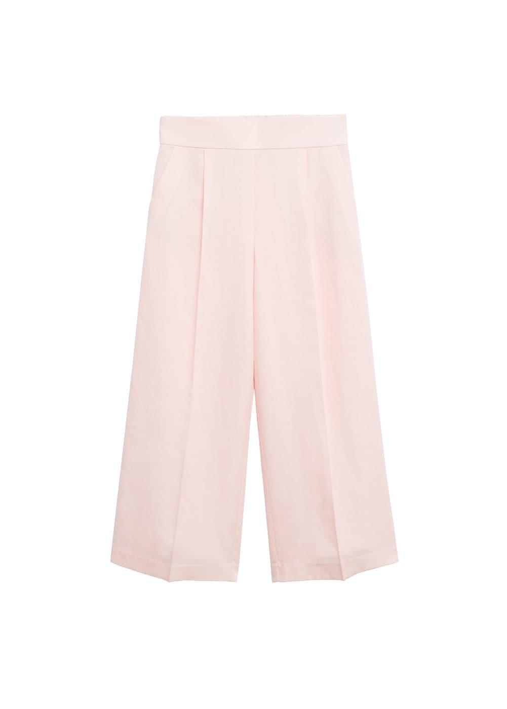 Pantalones cropped rosa de Mango