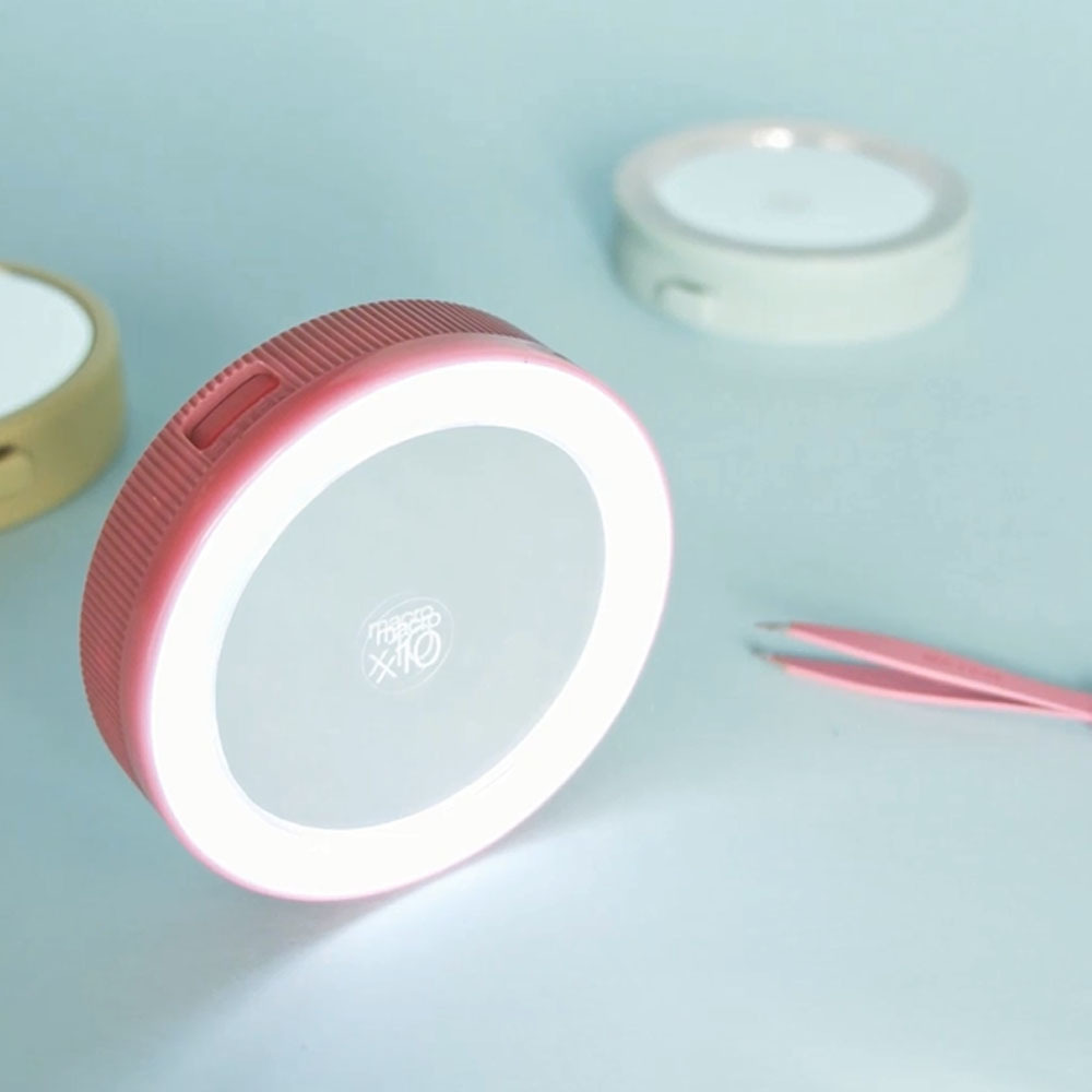 Espejo doble con pinza de depilar y luz Led Oooh! Tweezers flash de Beter.