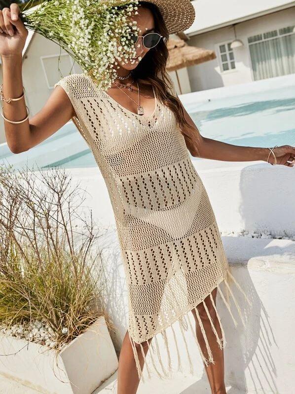 Vestido de crochet de Shein