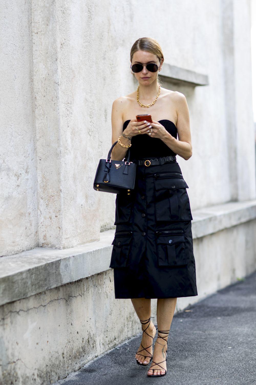 Pernille Teisbaek en la Milán Fashion Week.