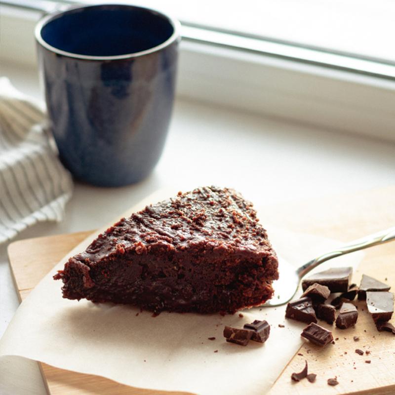 Bizcocho sin gluten con chocolate.