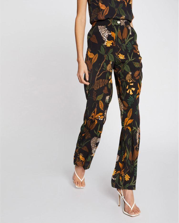 Pantalón con estampado de flores de Morgan