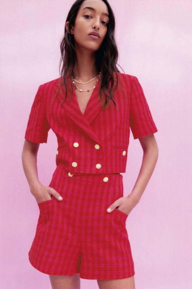 Pantalón corto de cuadros vichy de Zara