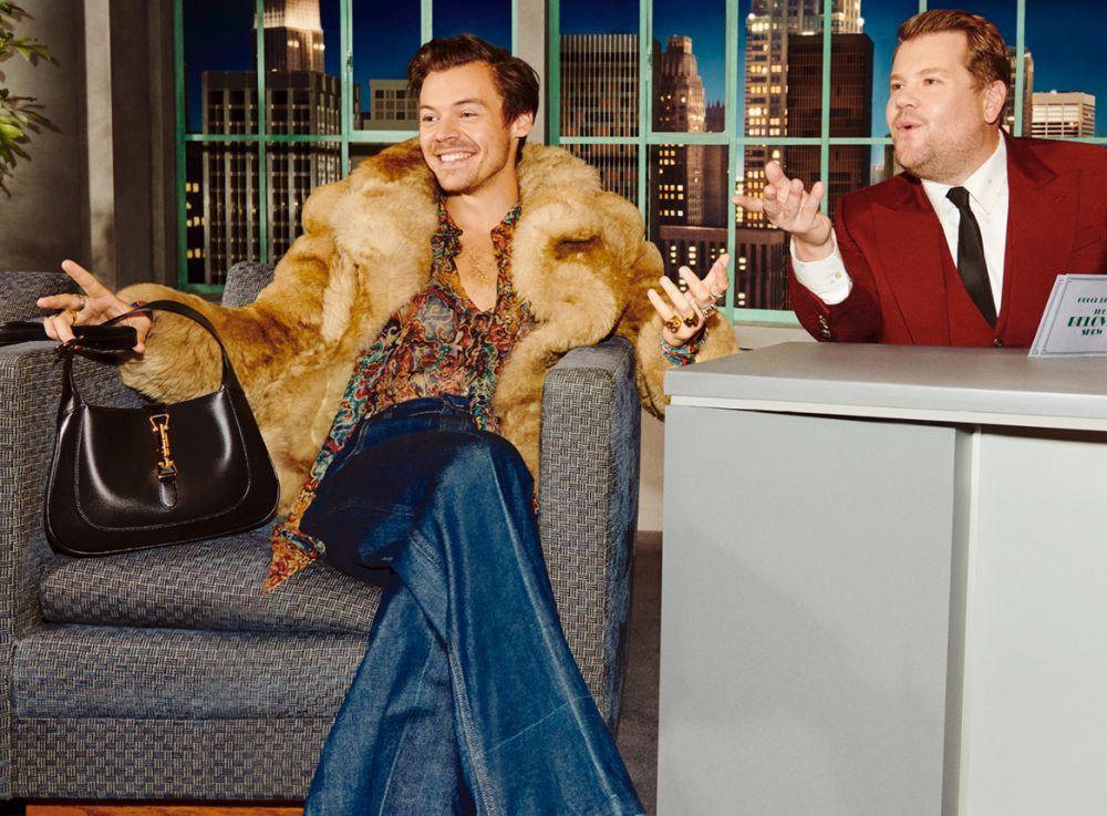 Harry Styles y James Corden en la campaña Gucci Beloved.