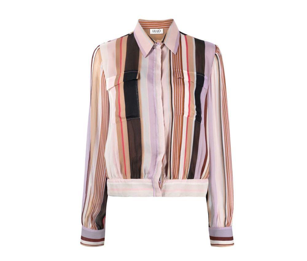 Camisa de rayas de colores de Liu Jo.