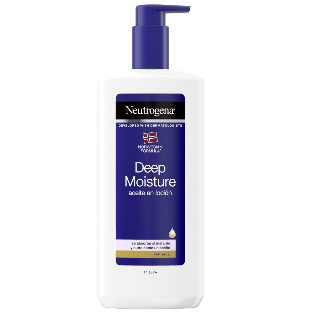 Aceite en loción Hidratación Profunda de Neutrogena.