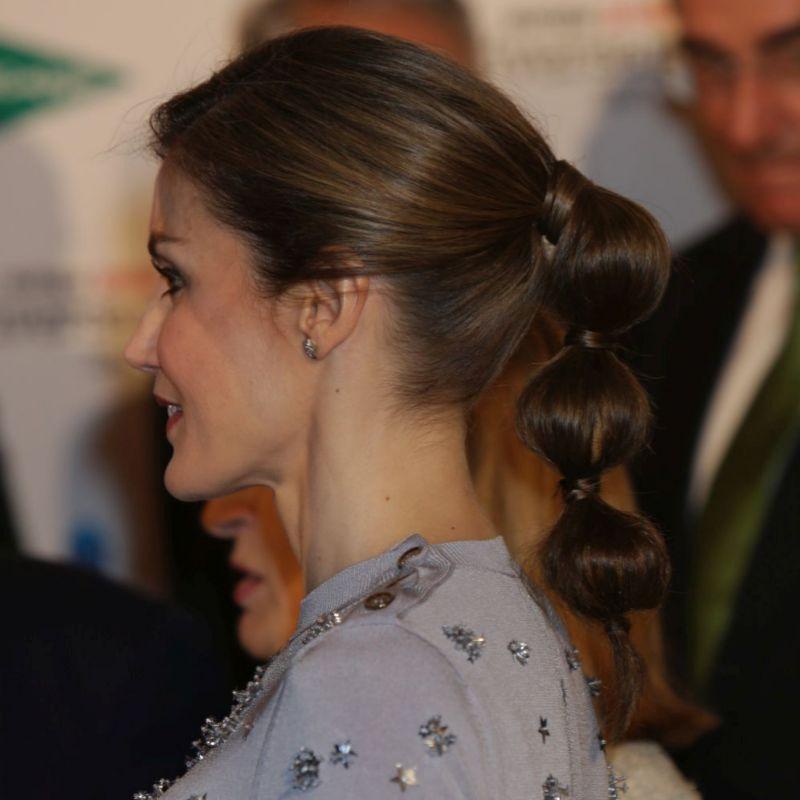 La bubble ponytail de la reina Letizia
