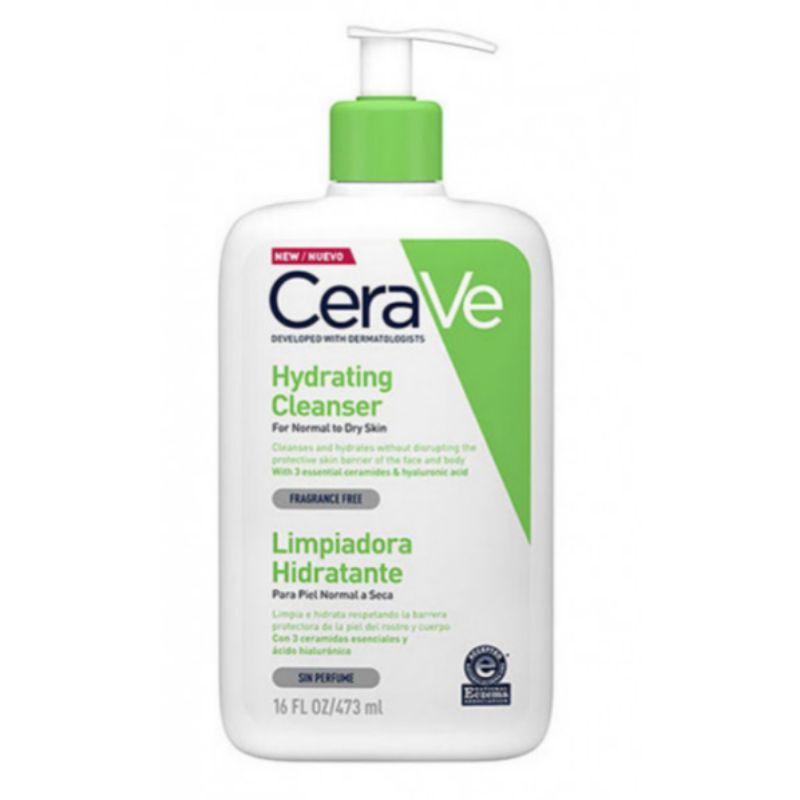 Limpiador hidratante facial de Cerave, disponible en Douglas