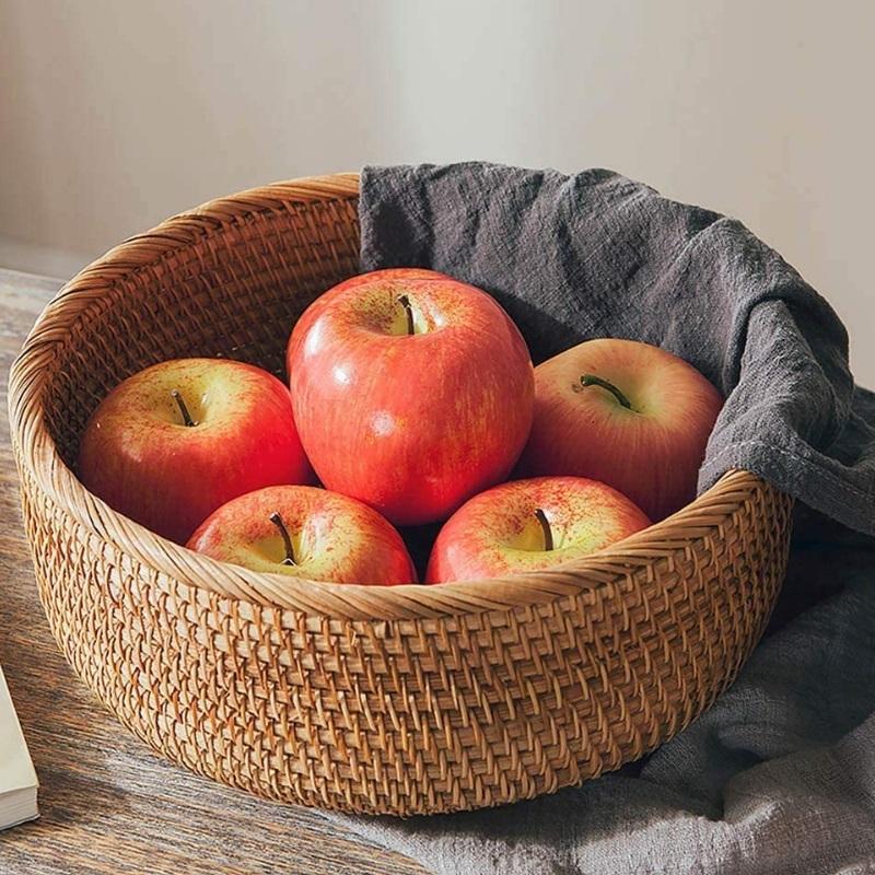 Cesta de ratán para frutas u otros alimentos