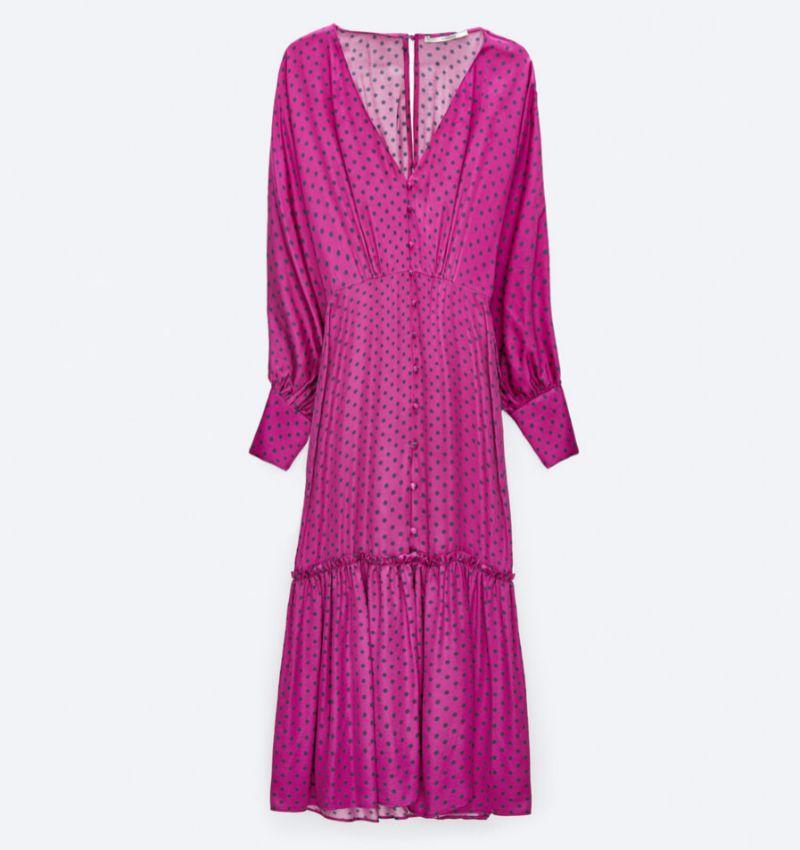 Vestido de invitada de Uterqüe (129 euros)