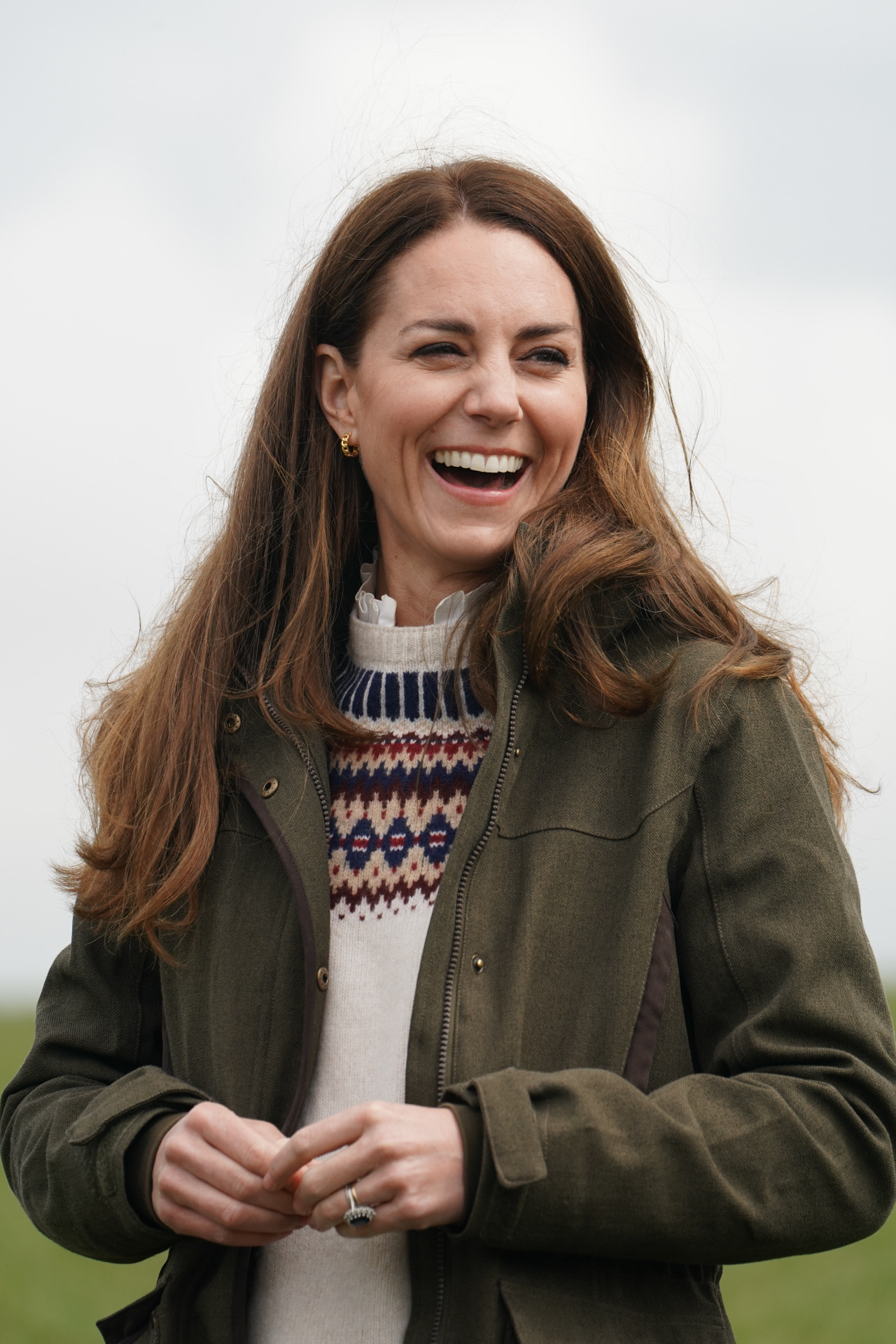 Kate Middleton visita una granja.