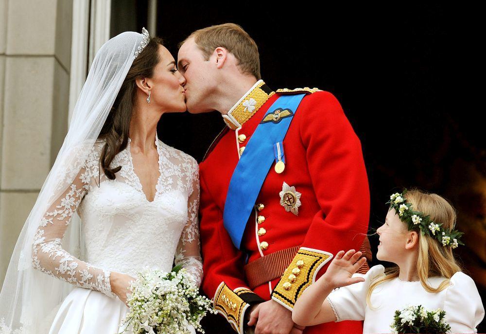 Los duques de Cambridge en su boda.