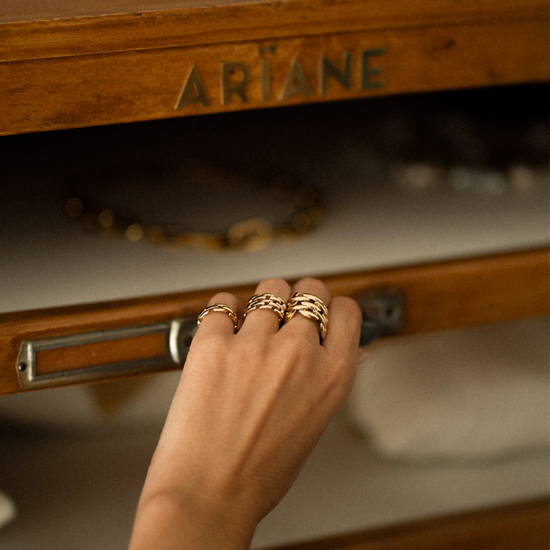 Tres anillos de Ariane Jewels