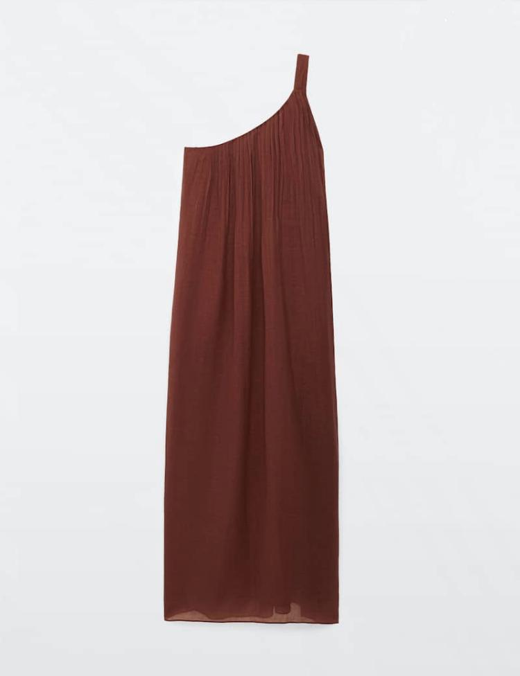 Vestido asimétrico de Massimo Dutti.
