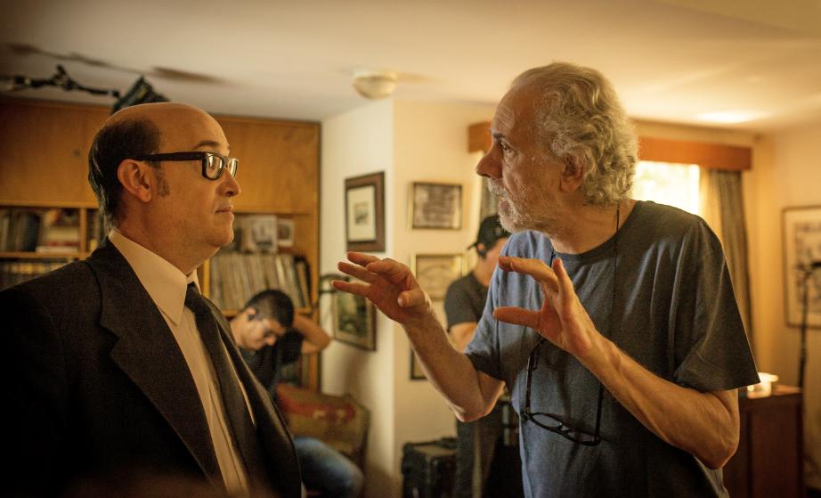 Javier Cámara y Fernando Trueba, durante el rodaje de El olvido que seremos