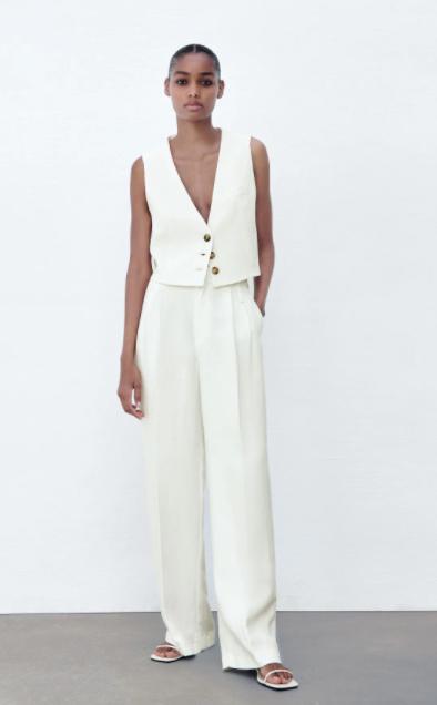 Pantalón de lino, Zara.