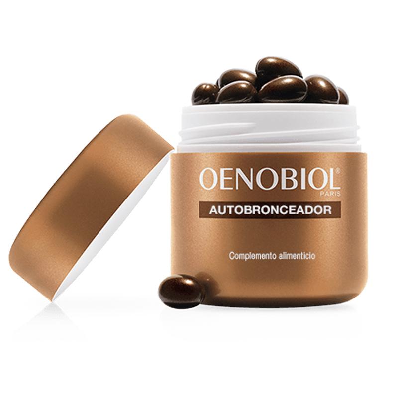 Cápsulas autobronceadoras de Oenobiol.