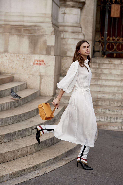 Vestido blanco midi.