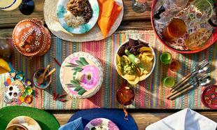 Buffet de cocina mexicana