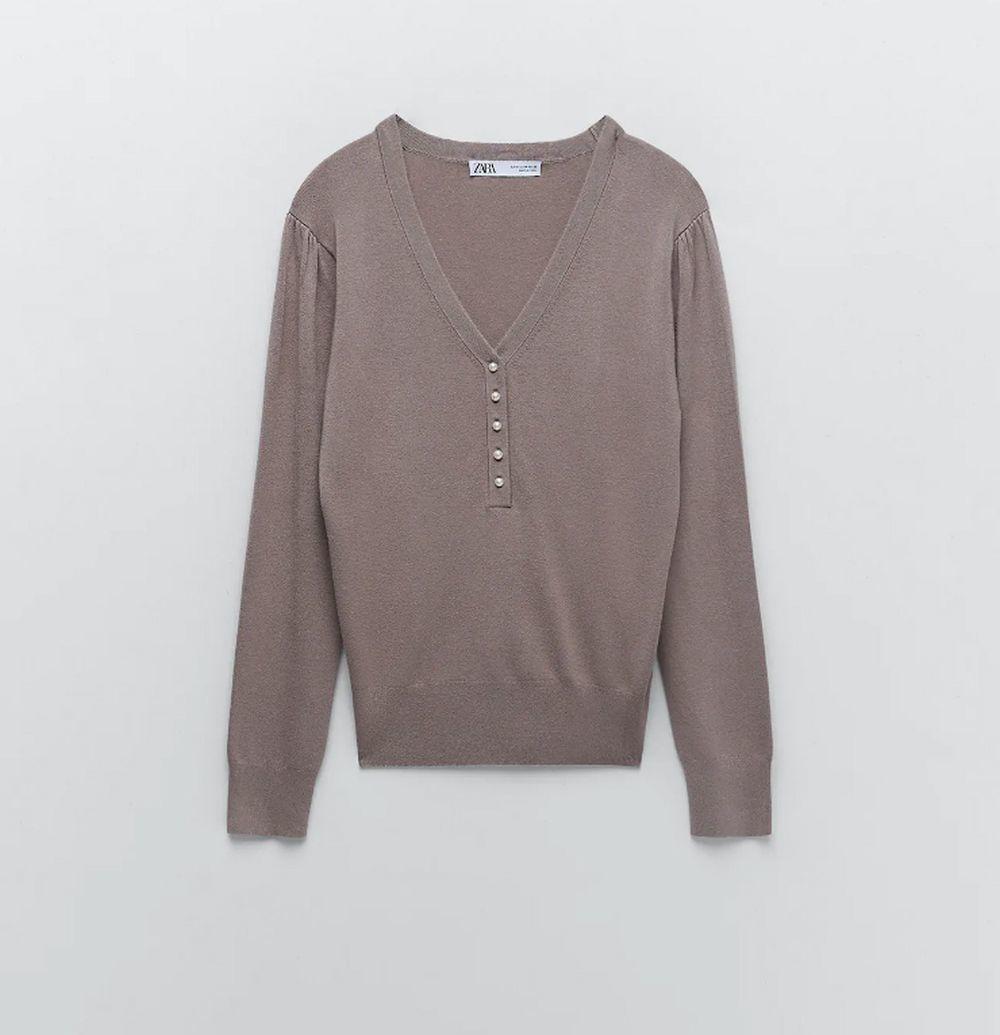Jersey de pico de Zara.