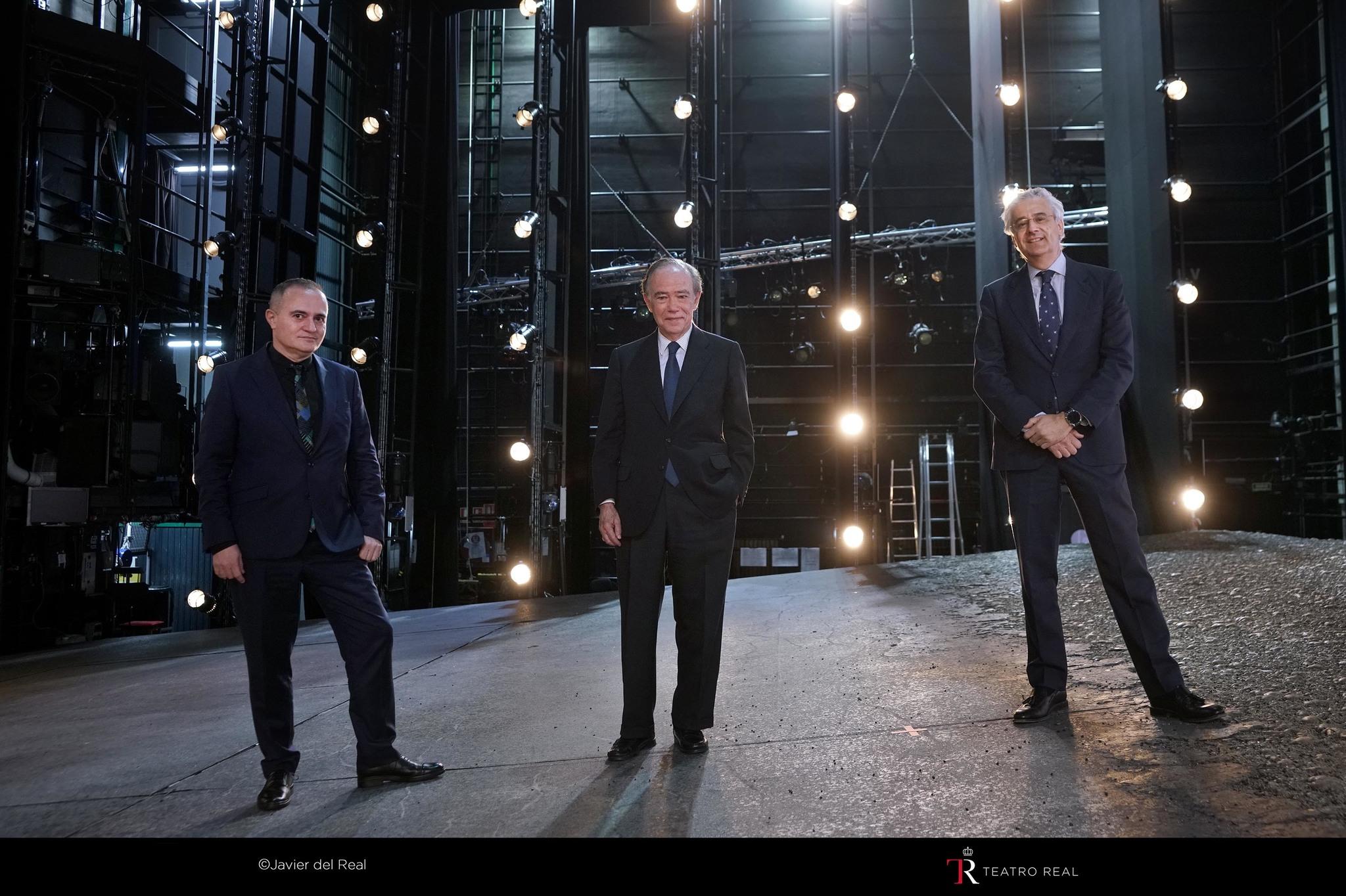 Equipo directivo del Teatro Real (de izquierda a derecha): Joan Matabosch, director artístico; Gregorio Marañón, presidente, e Ignacio García-Belenguer, director general.