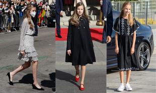 Los zapatos favoritos de la princesa Leonor: de los tacones a las...