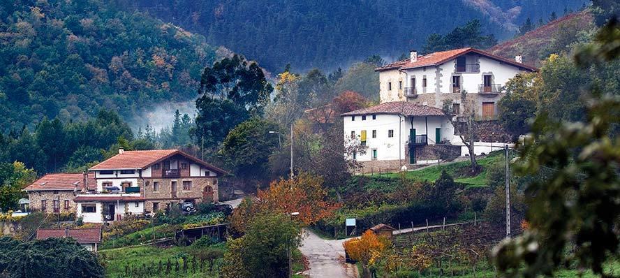 Caseríos en Balmaseda (Vizcaya).