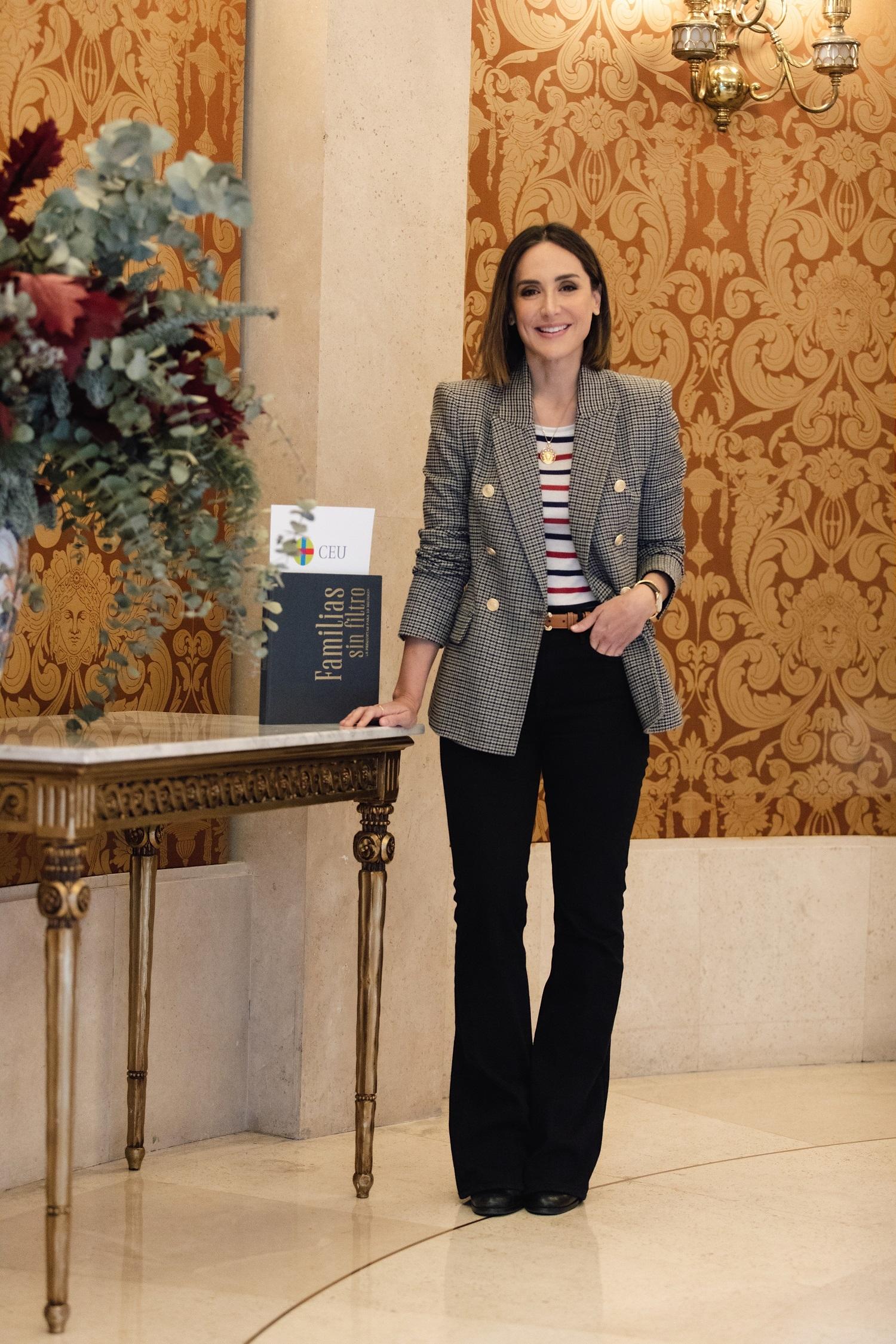 Tamara Falcó en el Teatro Real donde fue la presentación.