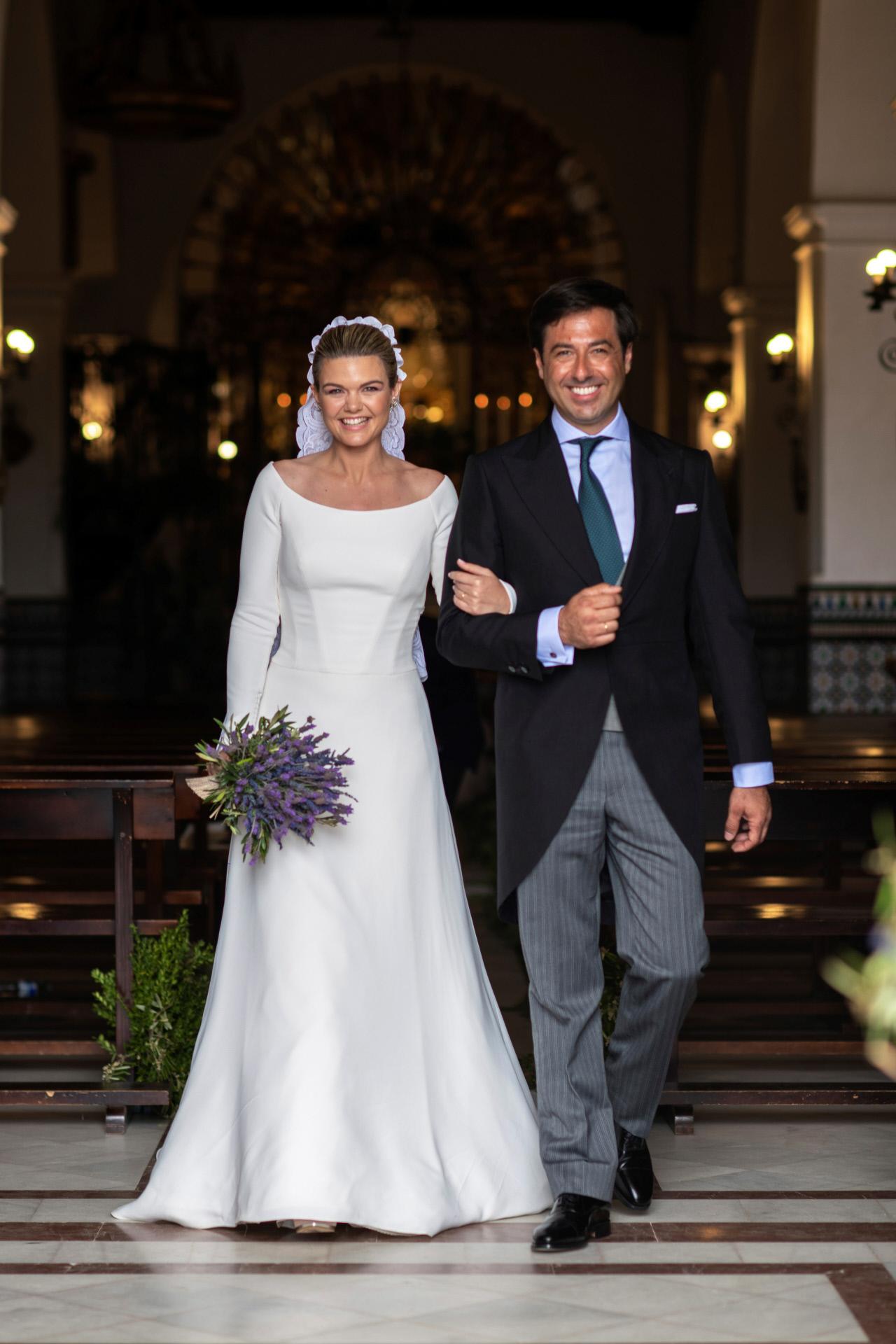 Alejandra Ruiz de Rato y Ernesto Novales en su boda.