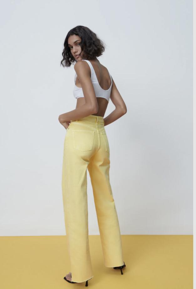 Vaqueros Wide leg full lenght de Zara