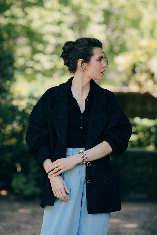 Carlota Casiraghi con look primavera-verano 2021 de Chanel.