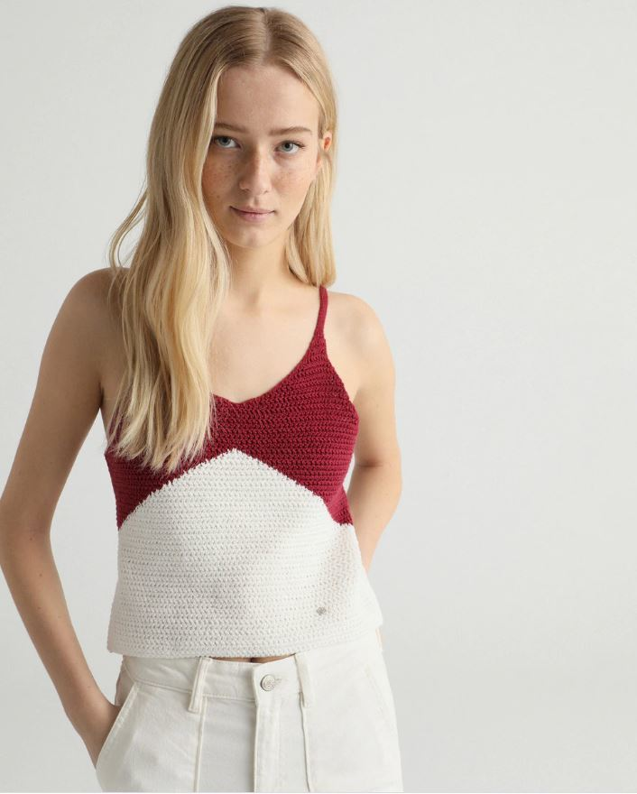 Top crochet bicolor de Green Coast