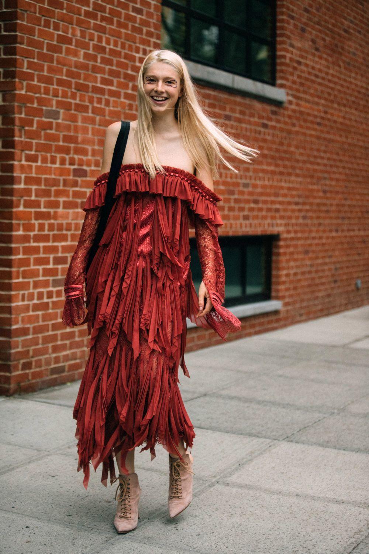 Hunter Schafer en la Semana de la Moda de Nueva York.