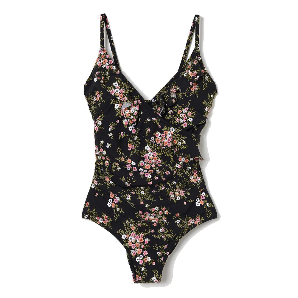 Bañador con print floral de H&M.
