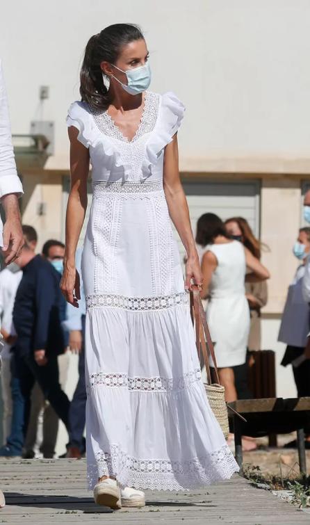 La reina Letizia en Ibiza el verano de 2020.