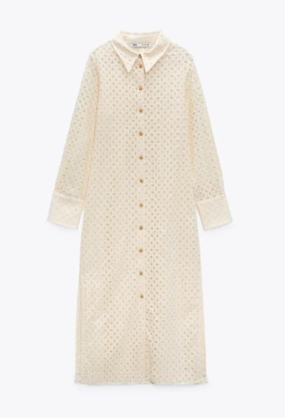 Camisero blanco, Zara.