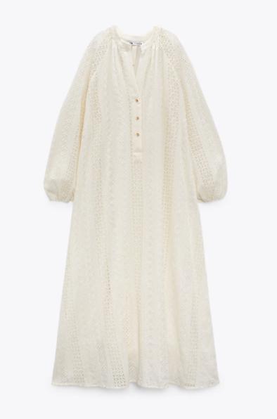 Vestido blanco, Zara.